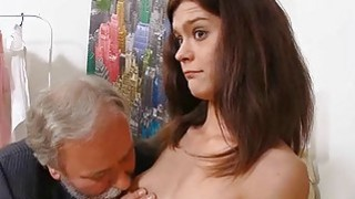 Young sweetheart takes old nasty dick in her mouth thumb