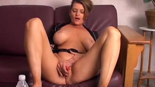 Beautiful big tits old spunker playing with her juicy pussy_for_you thumb