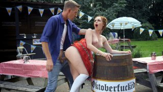 Ella Hughes gets fucked by Danny D at the Oktoberfest thumb