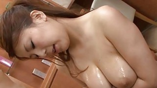 Big mangos japanese darling shows off her hot arse thumb