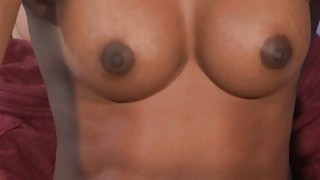 Gorgeous ebony redhead Jasmine Webb gets and IR banging after an oil massage thumb