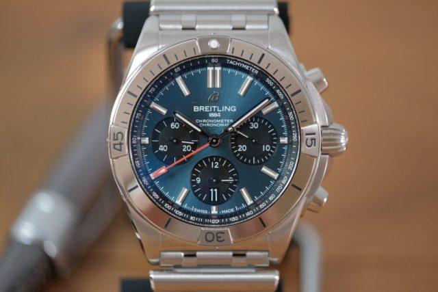 Blue chrono dial