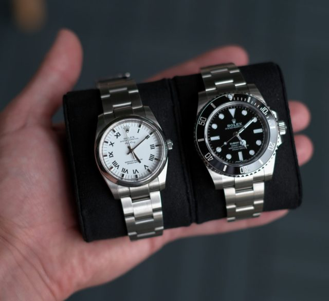 Side by side with Rolex air-king