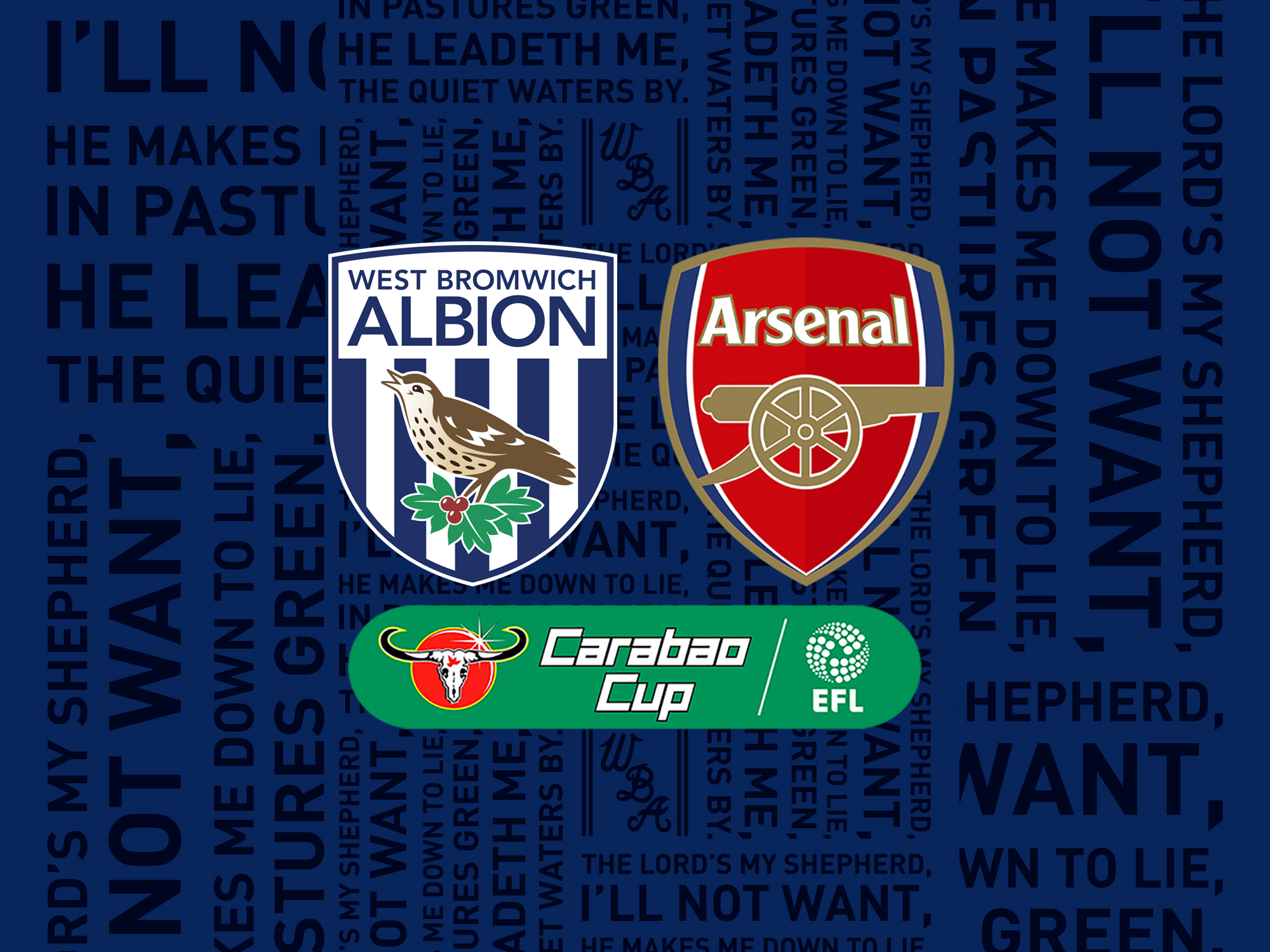 Ticket details for Carabao Cup clash with Arsenal   West Bromwich Albion