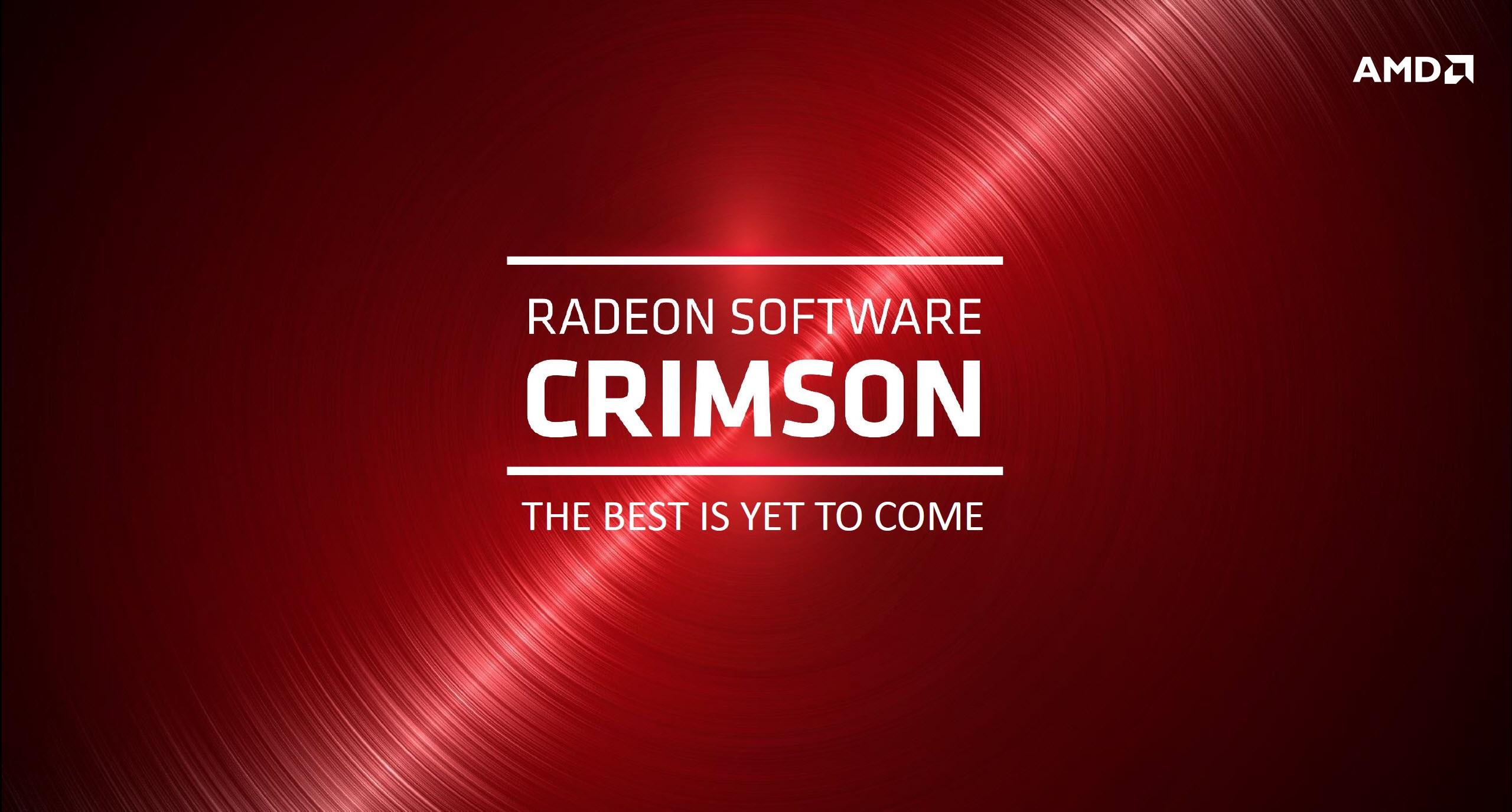 AMD Radeon Software Crimson Edition Drivers Officially
