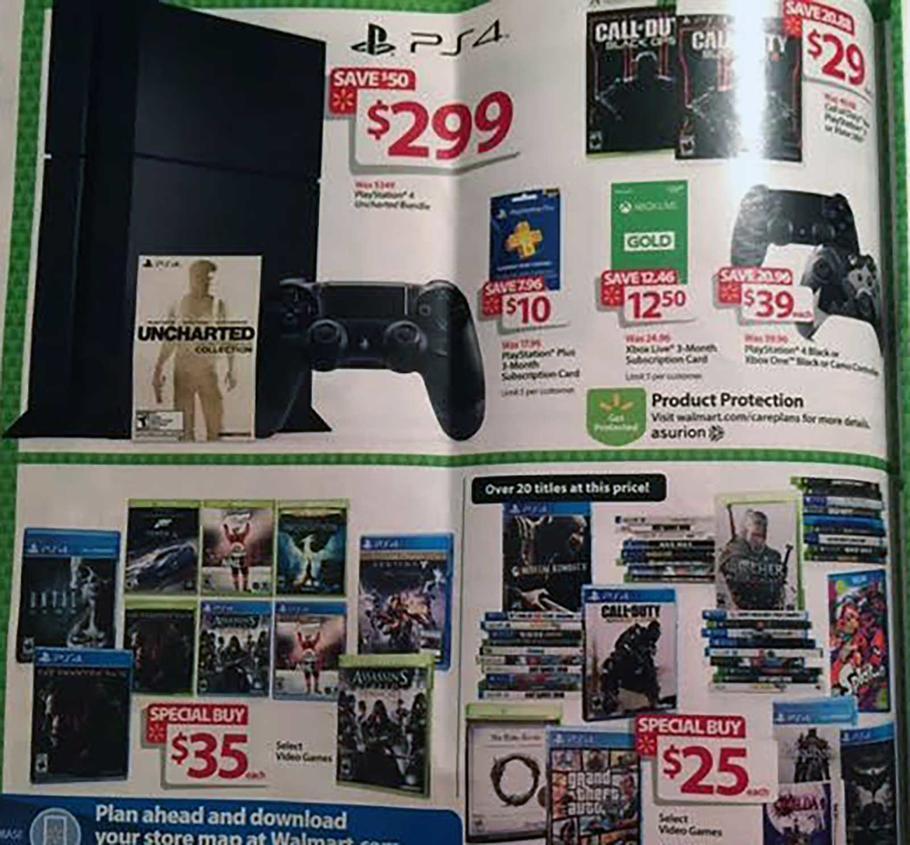 Walmart Black Friday Deals Include 299 PS4 Amp XB1 Bundles