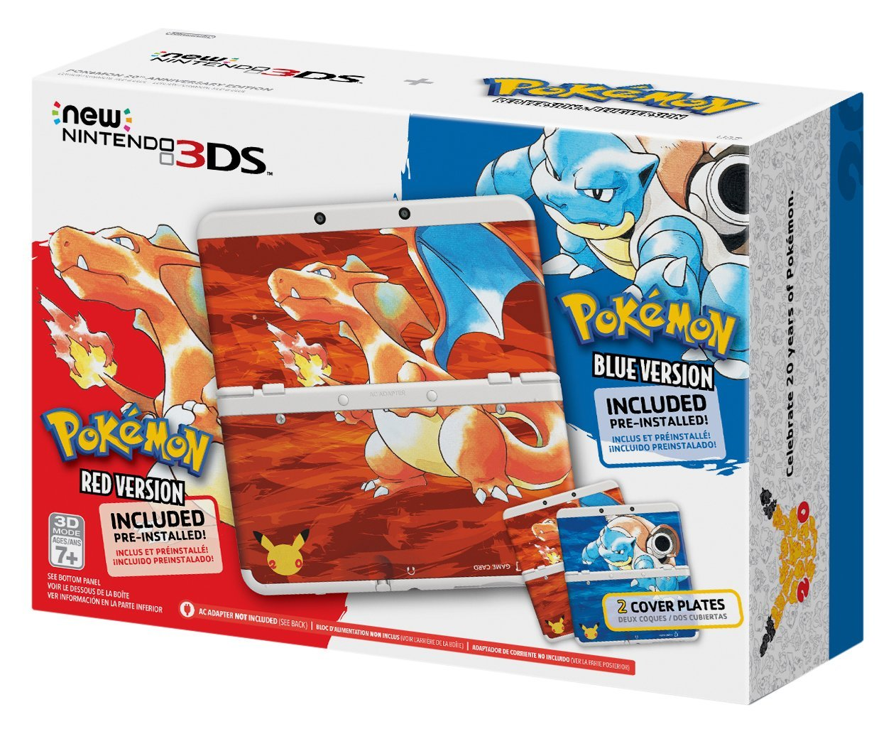Pokemon 20th Anniversary New 3DS RedBlue Bundle Images Surface Online