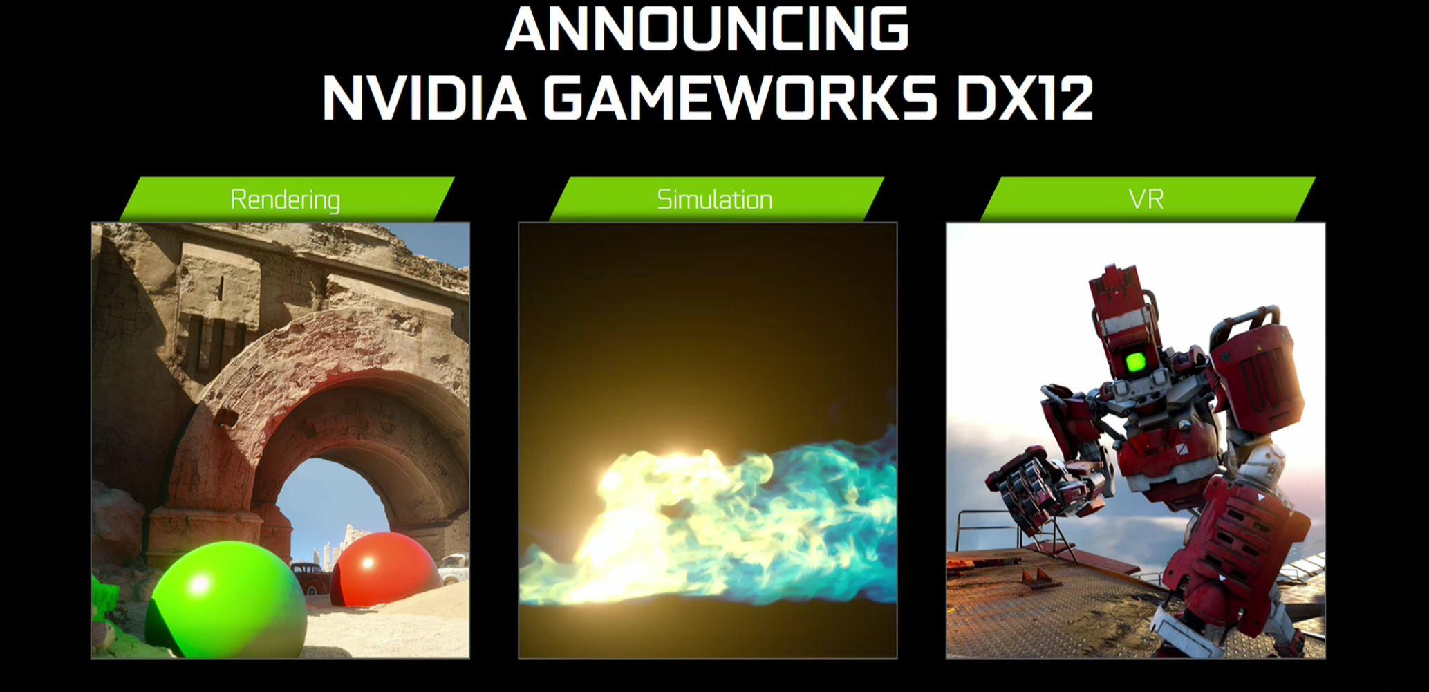 Resultado de imagem para GameWorks DX12 NVIDIA