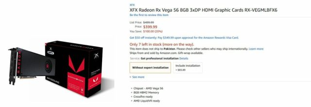 RX Vega 56 1030x354 AMD Radeon RX Vega 56 all sold out on Amazon and Newegg   You can place a pre order at Overclockers UK