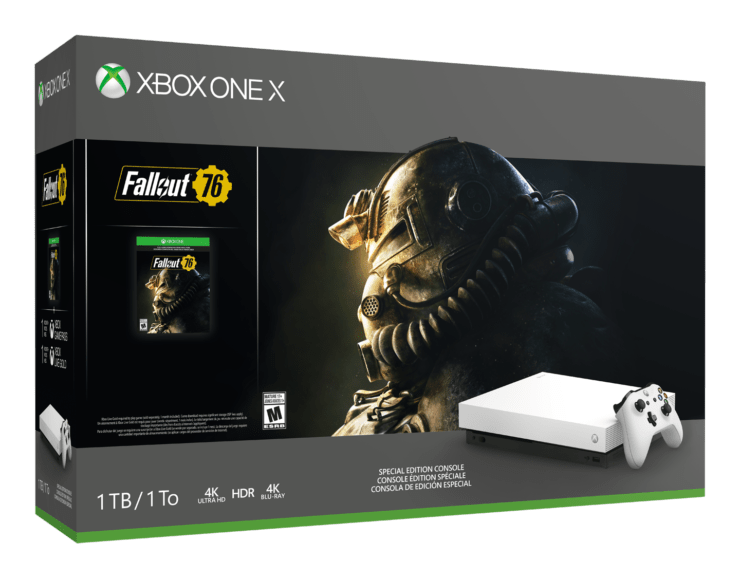 Xbox One X Fallout 76 White Bundle Announced Alongside New
