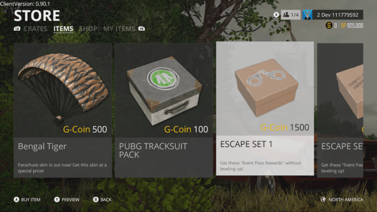 Bluehole Details PUBG Xbox One 10 Update G Coin And Crate