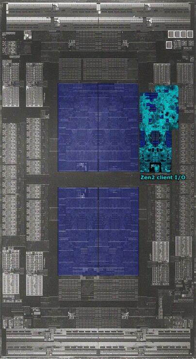 Los procesadores AMD 2nd Gen EPYC Rome cuentan con un enorme 39,54 mil millones de transistores, IO Die en la foto en detalle 3