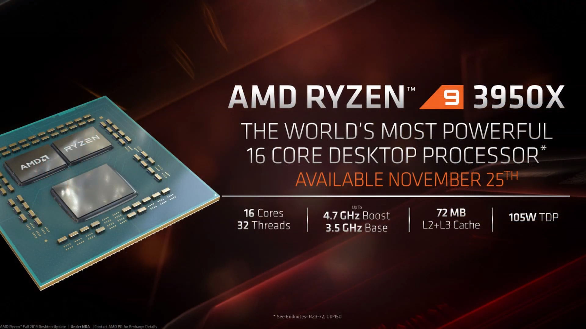 Amd S Ryzen 9 3950x 16 Core Cpu Faster Than Intel S Flagship