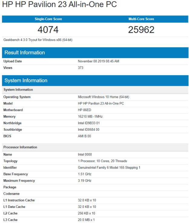 Intel-çekirdek-i9-kuyruklu-göl-s-10-çekirdek-20-dişli-masaüstü işlemci