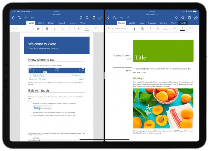 Word and PowerPoint for iPad Now Support Multiple Windows