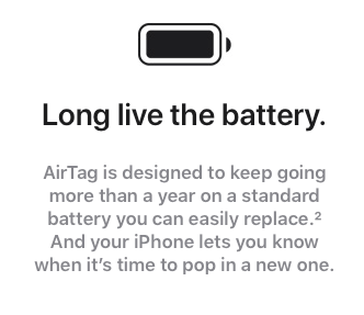 user replaceable battery battery life