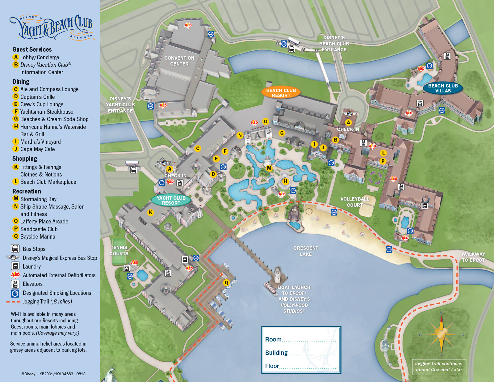 2013 Yacht Club Guide Map Photo 1 Of 1