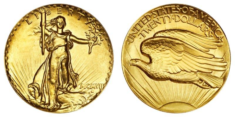 Moedas Mais Caras - Saint-Gaudens Double Eagle (1907)