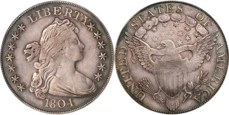 Moedas mais caras - Classe 1 do dólar de prata - 1804 - (espécime Watters-Childs)