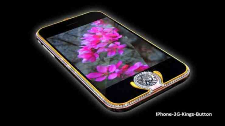 Most Expensive Phones - iPhone 3G Kings Button
