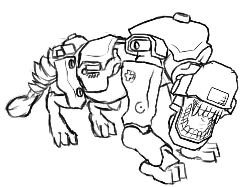 Wolfenstein Dog Of War Sketch