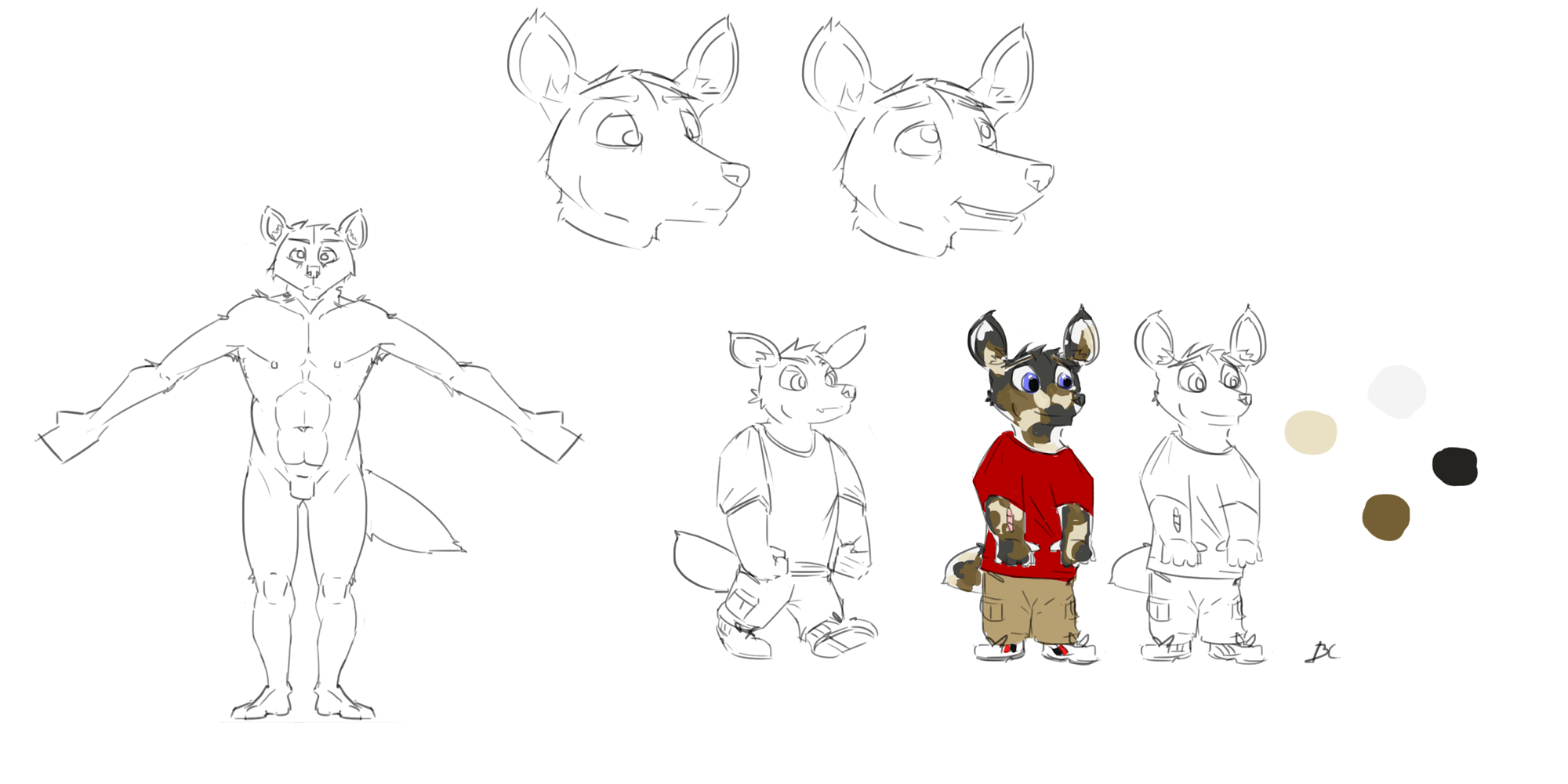Reference Sheet For Untitled Character 2