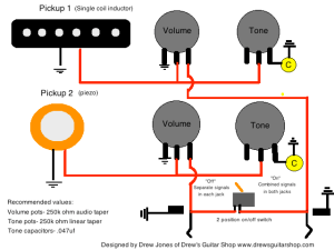 Acousticelectric stereomono wiring — Weasyl