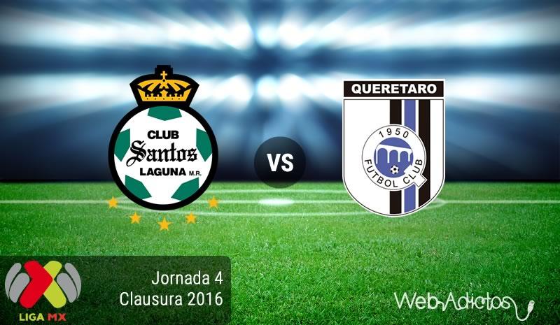 Santos vs Querétaro, Jornada 4 del Clausura 2016   Liga MX - santos-vs-queretaro-clausura-2016