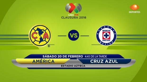 América vs Cruz Azul, Clásico joven del Clausura 2016 | Liga MX - america-vs-cruz-azul-por-televisa-deportres-clausura-2016
