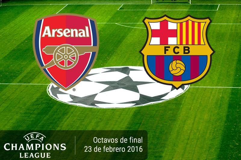 Arsenal vs Barcelona, Octavos de Champions 2016 | Partido de ida - arsenal-vs-barcelona-champions-league-2015-2016