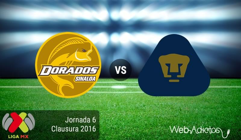 Dorados vs Pumas, Fecha 6 del Clausura 2016 de la Liga Mx - dorados-vs-pumas-clausura-2016