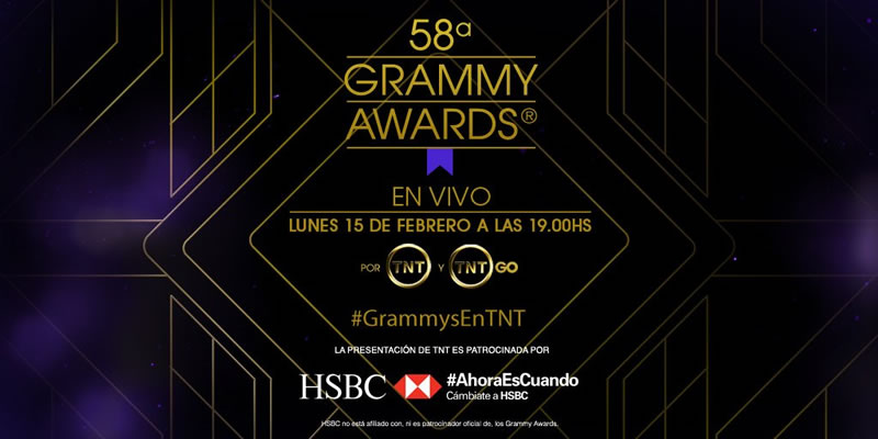 No te pierdas los Grammys 2016 este lunes 15 de febrero - gramms-2016-por-tnt