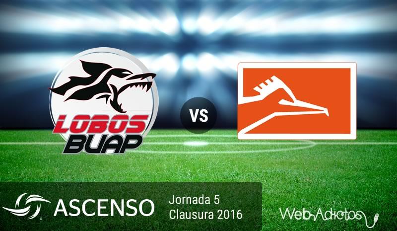 Lobo BUAP vs Correcaminos, Ascenso MX C2016   Jornada 5 - lobos-buap-vs-correcaminos-ascenso-mx-clausura-2016