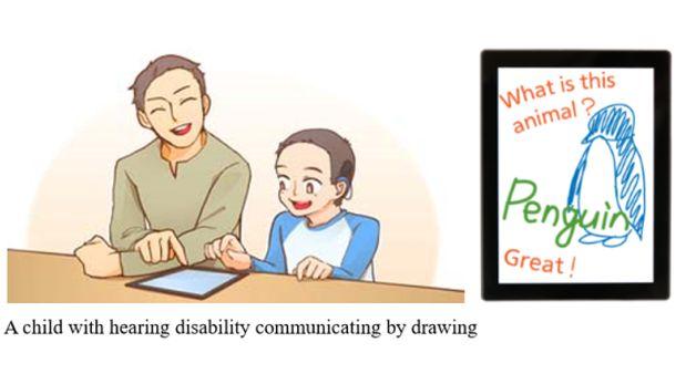 Crean sistema que convierte voz en textos en smartphones - mitsubishi-voice-activated-finger-drawing-displays-spoken-words