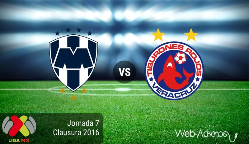 Monterrey vs Veracruz, Fecha 7 del Clausura 2016 - monterrey-vs-veracruz-clausura-2016