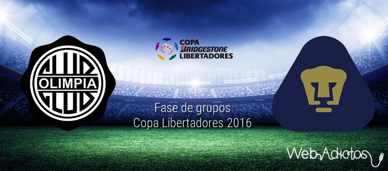 Olimpia vs Pumas, Copa Libertadores 2016 | Jornada 2 - olimpia-vs-pumas-en-copa-libertadores-2016