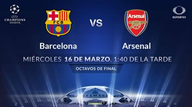 Barcelona vs Arsenal, Octavos de Champions 2016 | Resultado: 3 - 1 - barcelona-vs-arsenal-por-televisa-deportes-en-champions-league-2016