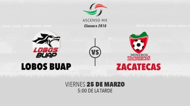 Lobos BUAP vs Mineros, J12 del Ascenso MX Clausura 2016 | Resultado: 1-1 - lobos-buap-vs-mineros-por-tdn-clausura-2016