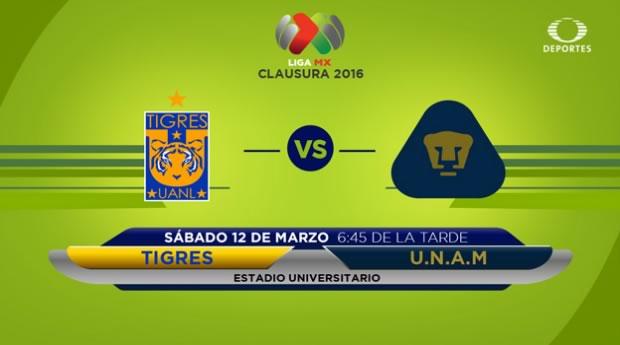 Tigres vs Pumas, Liga MX Torneo Clausura 2016 | Jornada 10 - tigres-vs-pumas-por-televisa-deportes-en-internet-clausura-2016