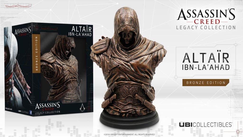 Ubisoft revela las nuevas figuras de Assassin's Creed - ac_altair_bronze_bust_figurine_mockup_hd_1459987627