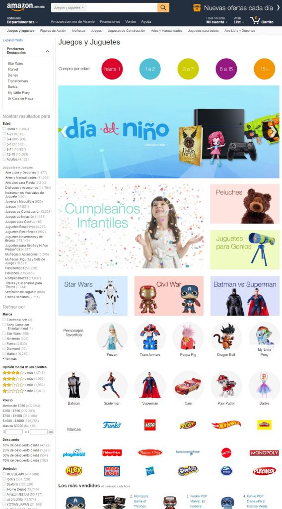La tienda de juguetes de Amazon México está lista para el día del niño - amazon-com-mx-juguetes