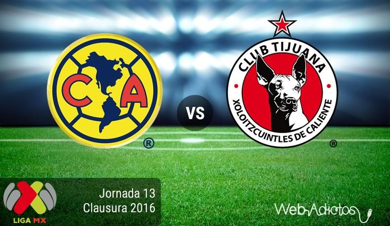 América vs Tijuana, Jornada 13 del Clausura 2016 | Resultado: 6-1 - america-vs-tijuana-jornada-13-del-clausura-2016