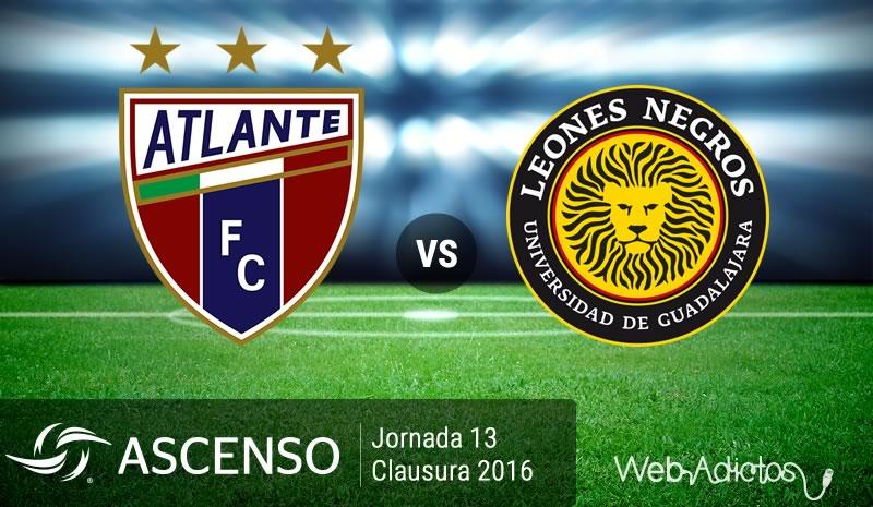 Atlante vs Leones Negros UDG, Ascenso MX Clausura 2016   Resultado: 3-0 - atlante-vs-leones-negros-udg-ascenso-mx-clausura-2016