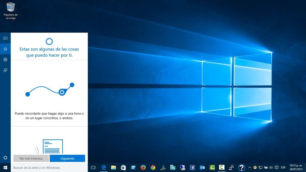 Cortana limita su uso a Bing y a Microsoft Edge - cortana