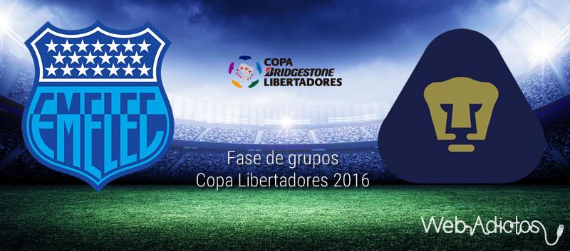 Emelec vs Pumas, Copa Libertadores 2016 | Resultado: 2-3 - emelec-vs-pumas-en-copa-libertadores-2016