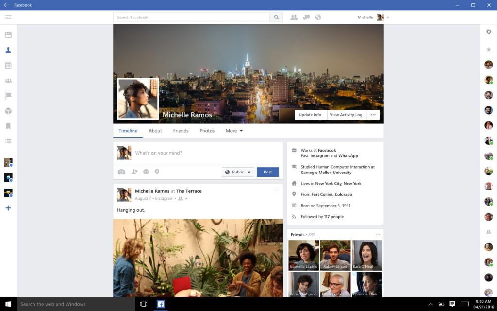 Facebook, Messenger e Instagram llegan a Windows 10 - facebook-windows-10