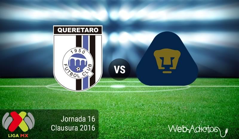 Querétaro vs Pumas, Jornada 16 del Clausura 2016 | Resultado: 2-1 - queretaro-vs-pumas-jornada-16-del-clausura-2016