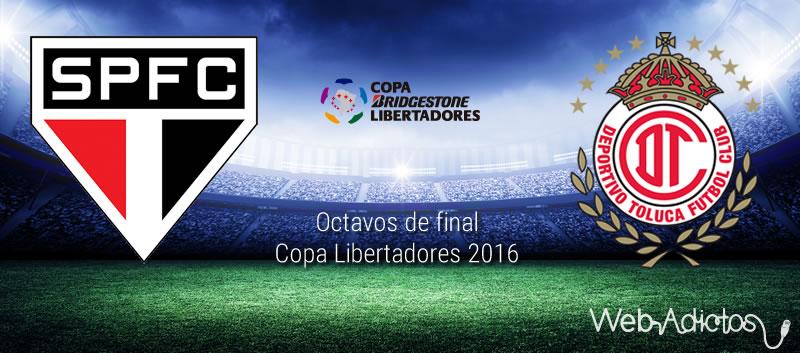 Sao Paulo vs Toluca, Octavos de Libertadores 2016 | Resultado: 4-0 - sao-paulo-vs-toluca-octavos-de-final-copa-libertadores-2016