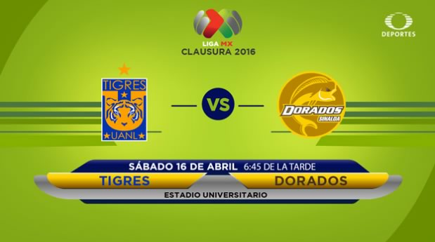 Tigres vs Dorados, J14 del Clausura 2016 | Resultado: 5-2 - tigres-vs-dorados-por-televisa-deportes-clausura-2016