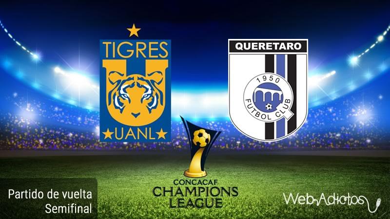 Tigres vs Querétaro, Semifinal Concachampions 2016 | Resultado: 2-0 - tigres-vs-queretaro-semifinal-de-concachampions-2016